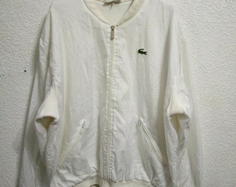 Sale Vintage Lacoste Trainer Jacket White Colour