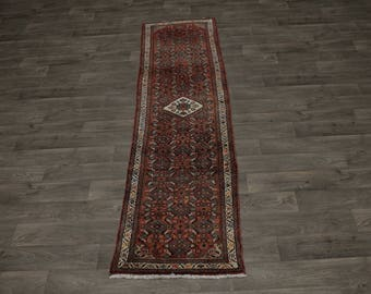 Great Handmade Narrow Runner Hamedan Persian Rug Oriental Area Carpet 2'5X9'6