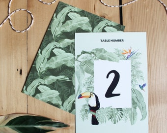Tropical Wedding Table Number, Costa Rica Coo Coo: Destination Wedding Table Number