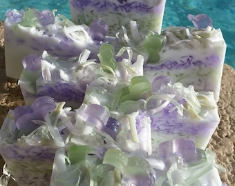 Lavender Handmade Soap Slices - Soothing for the Soul - Relaxing - Therapeutic - Every One Loves Lavender