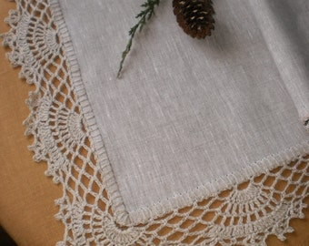 Table Runner Decor Country Chic Rustic Kitchen Lace Doily Tablecloth Linen Home Decor Lace Decorations Housewares Flax Cottage Chic Overlay