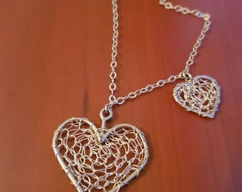 Heart shaped pendant , silver necklace , silver heart , 925 silver heart necklace