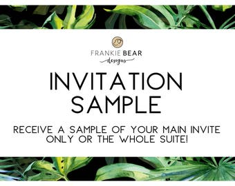 Invitation Sample, Frankie Bear Designs Invitation Sample, RSVP sample