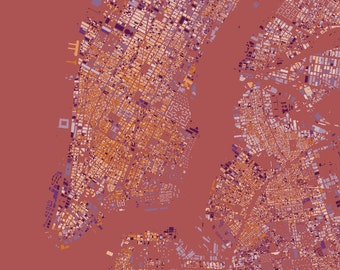New York city center abstract maps