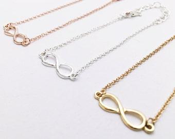 4x Infinity Bracelet silver, Infinity, Infinity, Bridesmaid Gift, Gift, Love, Eternity