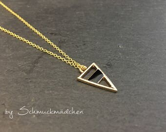 Chain gold triangle simply