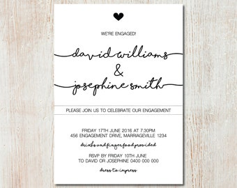 Engagement party invitation - DIGITAL FILE