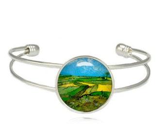 Van Gogh Fields Cuff Bangle Van Gogh Bracelet Van Gogh painting Bracelet Art Jewelry
