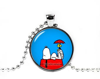 Snoopy Necklace Woodstock Pendant Snoopy Peanuts Fandom Jewelry Cosplay Fangirl Fanboy