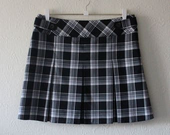 Black and white plaid skirt | Etsy