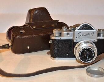 old Zenit-C 35mm film camera 1958 USSR