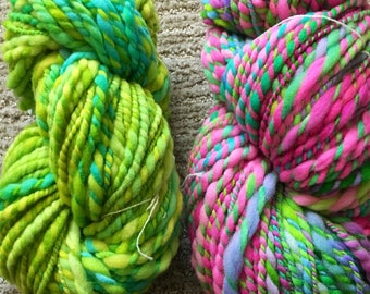 Hand-dyed Hand-spun Merino Wool