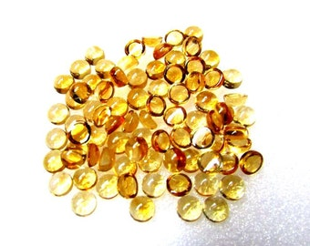 10 pieces 5mm Citrine Cabochon Round Gemstone - CITRINE Round Cabochon Gemstone - Yellow Citrine Cabochon Round Loose Gemstone