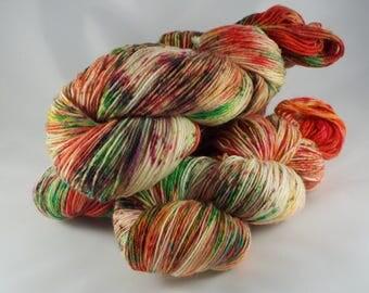 hand-dyed sock yarn, hand dyed yarn, sock yarn