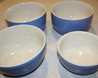 Small blue bowls, collection of 4