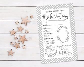 Tooth Fairy Printable Receipt || Tooth Fairy Letter Download || Tooth Fairy Certificate || Tooth Fairy Receipt Printable (DIGITAL PRODUCT)