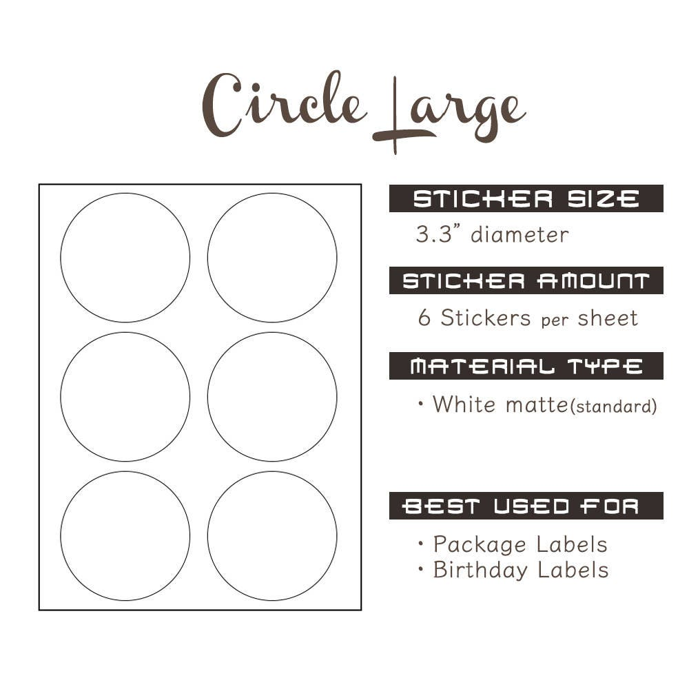 circle stickerlarge1 sheet 6 stickers slime container labels. Black Bedroom Furniture Sets. Home Design Ideas