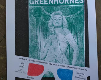 2010 gigposter for The Greenhornes Nashville