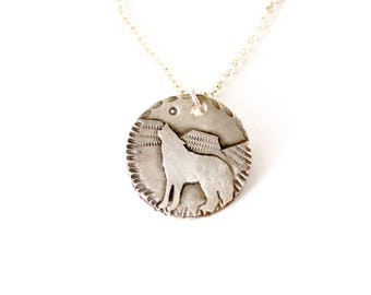 Coyote Sterling Silver Medallion Necklace