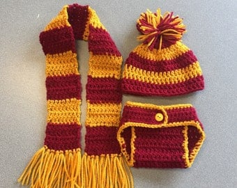 Harry Potter themed newborn photo prop