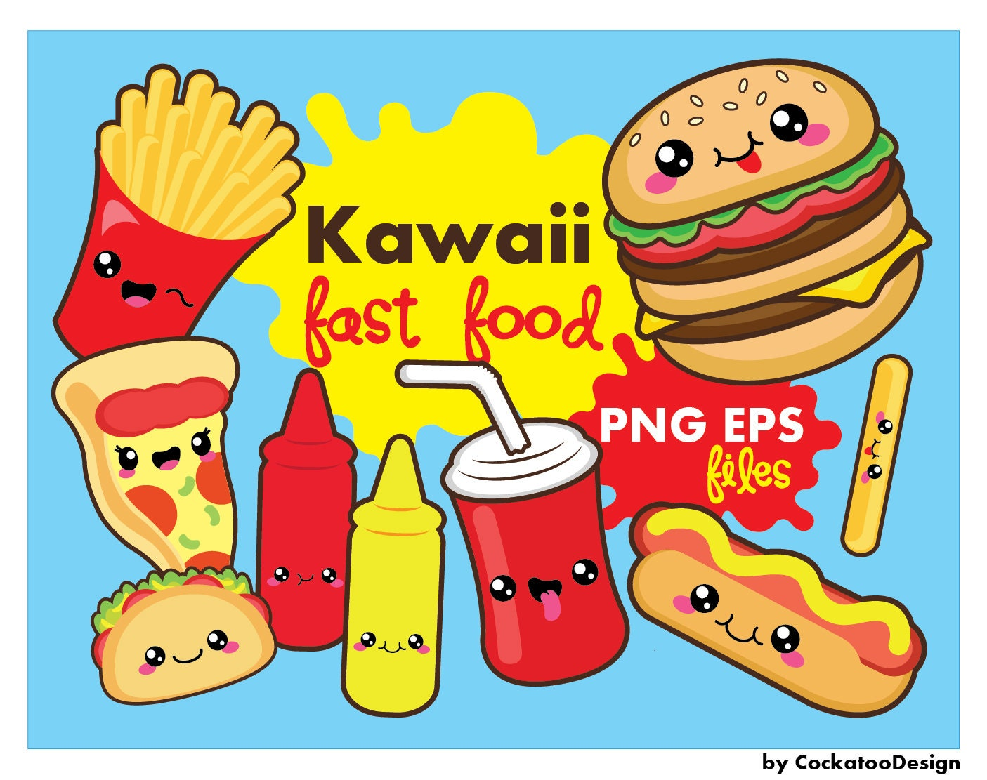 30  off  kawaii clipart  kawaii fast food clipart  kawaii food clipart  kawaii pizza clipart update clipart free updates clip art pics