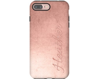 Rose gold iPhone 7 Plus case, iPhone X case, iPhone 8 Plus case, iPhone 7 case, iPhone 8 case, iPhone 6s/6s Plus/6/6 Plus cases for women