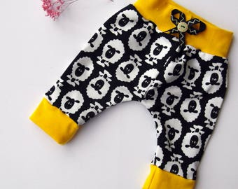 Newborn baby pants/Black sheep/black and yellow/baby trousers/gift set/homemade/hipster baby