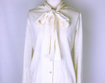 Jean-Paul GAULTIER Classique Bowtie Knit Cardigan