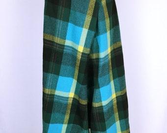 YOHJI YAMAMOTO Check pattern wool design Gaucho pants