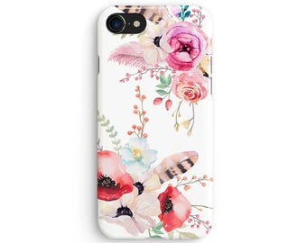Watercolor floral bunch - iPhone 7 case, Samsung Galaxy S7 case, iPhone 6, iPhone 7 plus, iPhone SE, iPhone 5S, 1C048C