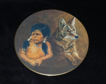 """1978 Kern Collectibles Companion Series """"Mighty Sioux"""" Collector Plate by Gregory Perillo"""