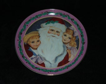 "1987 Willitts Galleries ""A Visit from St. Nick"" Christmas Plate by Sheila Golden"