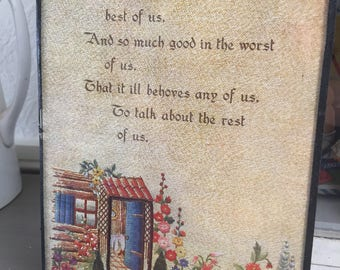 Pretty vintage picture with quote
