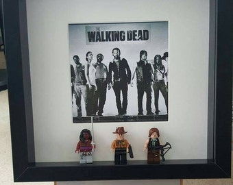 The Walking Dead lego 3d Frame Rick Grimes Daryl Michonne birthday present gift tv show