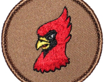 Cardinal Patch (238) 2 Inch Diameter Embroidered Patch