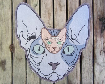 Sphynx Cat (Back) Patches 2-Pack