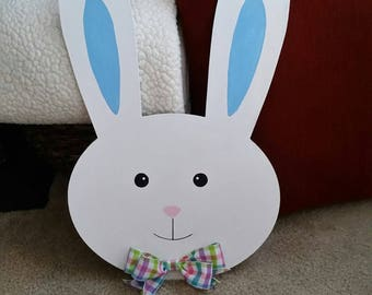 Easter Bunny Head Doorhanger