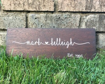 Wedding Gift | Custom Wood Wedding Sign | Couple Sign | Custom Couple Gifts | Wood Anniversary Gift | Personalised Wedding Gifts | Keepsake