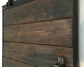 Sliding barn door / reclaimed scaffold sliding barn door / industrial sliding door / FREE UK DELIVERY