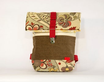 ART NOUVEAU daypack / Upcycling bagpack
