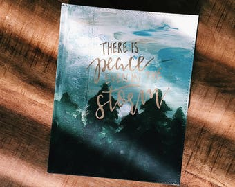 Skye Theme Custom Bible // nature, forest, hand painted bible