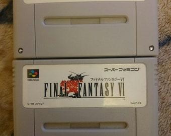 Original Nintendo Super Famicom Final Fantasy Games bundle x2 *Used* *Japanese*