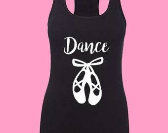 Dance Tank Top, ballerina shirt, ladies dance shirt, ladies dance tank ladies dancng ballerina shirt