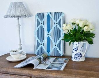 Blue Deckchair Striped Pinboard