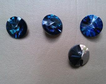 16 mm Vintage Swarovski Crystal Rivoli Button Article 3015 Crystal Vitral Medium 3/6 pieces
