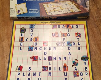 1989 Scrabble Crossword Game for Juniors by Milton Bradley No 4039