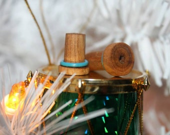 One pair Cherry Wood single flare ear plugs handmade
