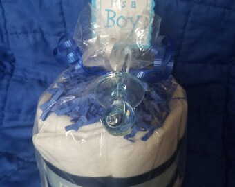 It's a Boy Mini Diaper Cake Baby Shower Decor/Centerpiece