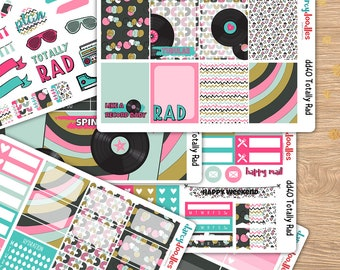 Totally Rad Planner Stickers Weekly Kit perfect for Erin Condren and Happy Planner( DD040)