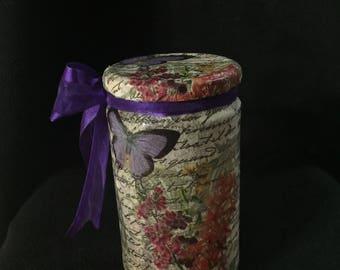 Hand writing glass jar